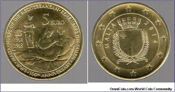 5 Euros 100th Anniversary of WWI