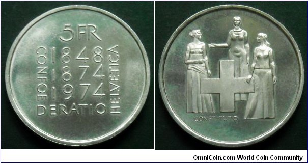Switzerland 5 francs.