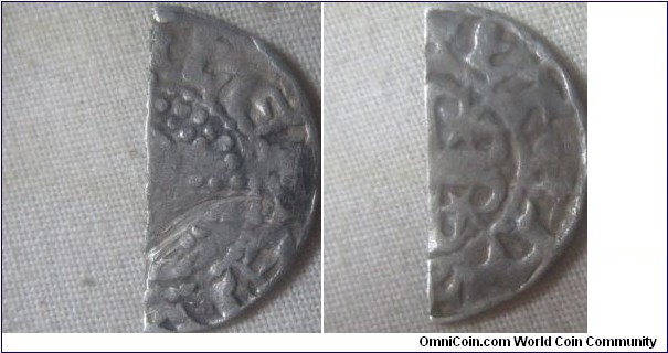 Scotland cut Halfpenny Short Cross and Stars coinage, Phase B (c.1205-c.1230), Hue and Walter working together.