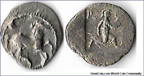 nice example of a Perrhaebi tribe (Thessaly) Obol struck circa 480 -400 BC.