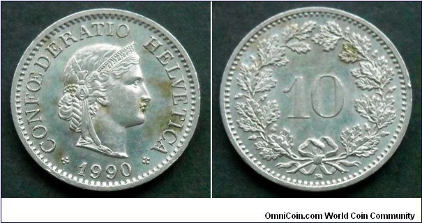 Switzerland 10 rappen.