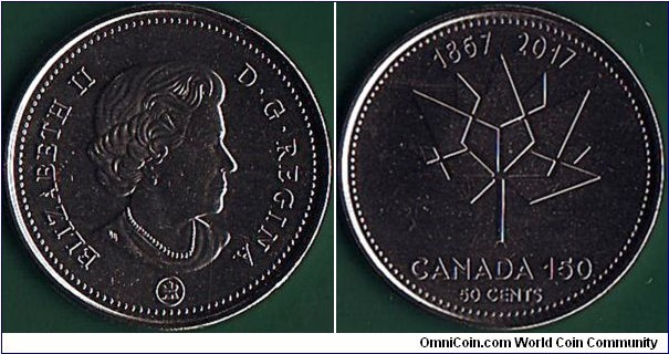 Canada 2017 50 Cents.