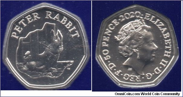 50p. The Tales of Beatrix Potter-Peter Rabbit