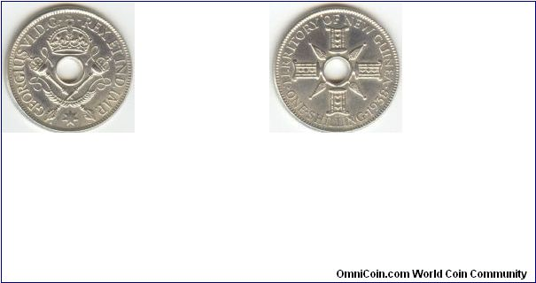 1938 Papua New Guinea One Shilling (Silver)
