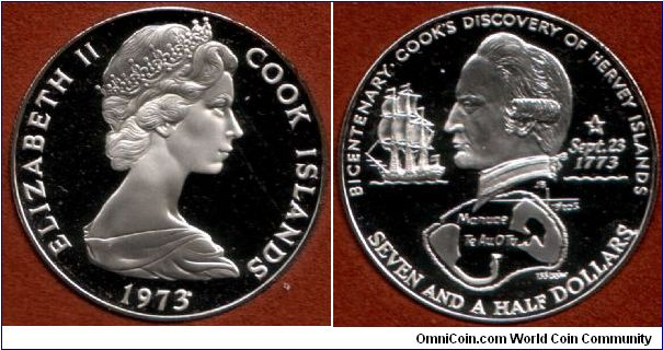 7.5 Dollars silver proof. The obverse is one of the best portraits I have ever seen.