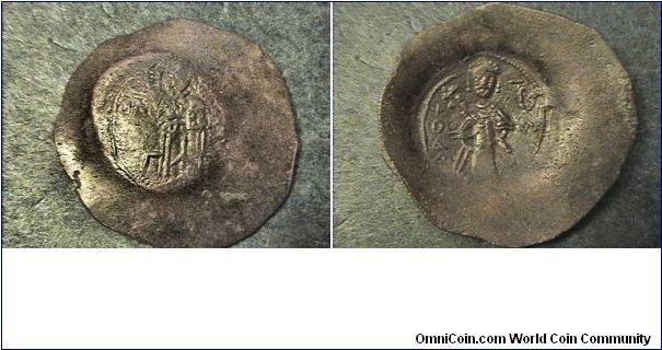Extremely Rare, less than 100 of these coins know to exist. Theodore Mankaphas 1188-1189 & 1204-1205 1st King of Bulgaria (Philadelphia) Obv: Christ standing. Rev: Theodore in greek.