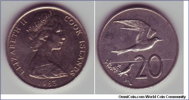 Cook Islands - 20c - 1983