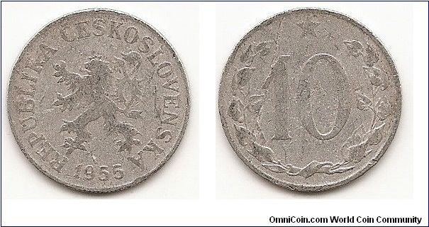 10 Haleru - Peoples Republic of Czechoslovakia -