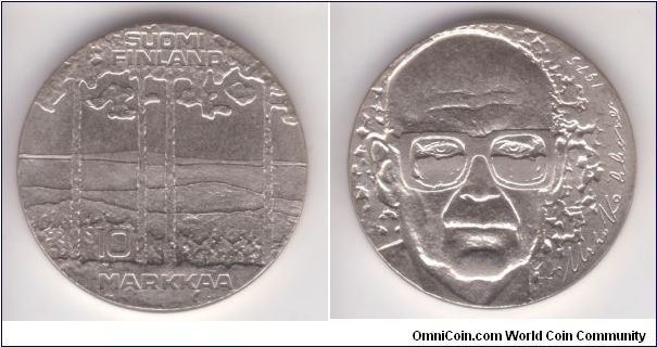 KM-54, Finland 1975 S-H 10 markaa, 75'th birthday of president Kekkonen