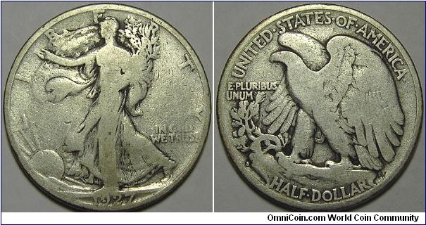 1927S Walking Liberty Half Dollar