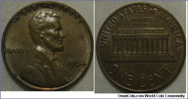 another great condition 1964 cent, there are lustre traces